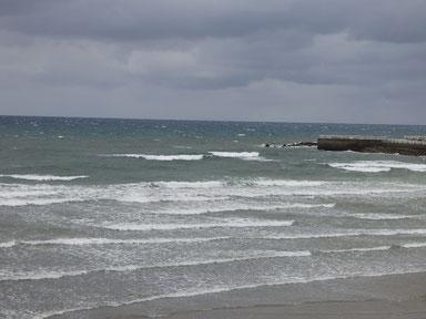 沖で白波結構出てます。