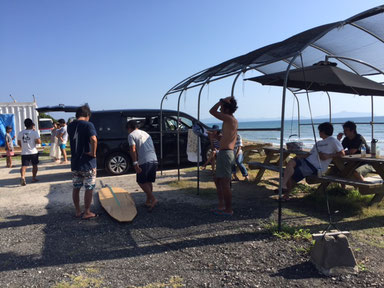 海上がりの講習会?! ワイワイと賑やかでしたよ。