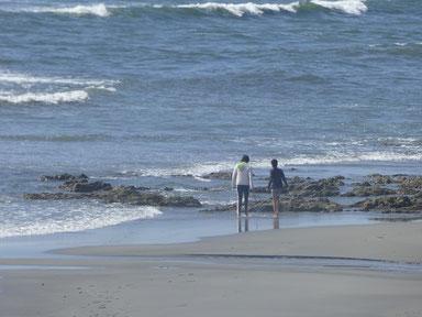 夏休み ちびっ子達も海で遊べていいね~