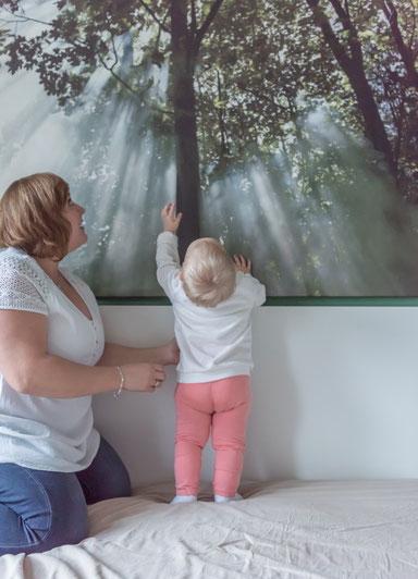 Familien Fotoshooting zu Hause - Mama und Tochter