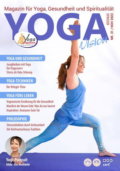 Kostenlose Yoga Zeitschrift Yoga Akademie Austria