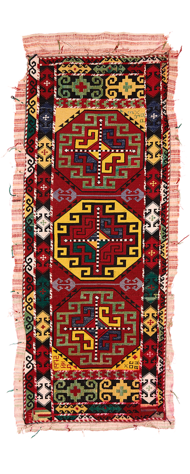 Uzbek embroidered mafrash side panel.