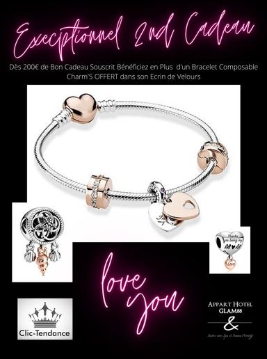 bijoux - bracelet charm offert saint valentin