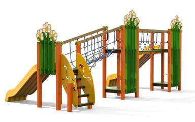 multifunzione Prato Mix Scivolo Ciuffo, giochi per parco, giochi per parchi, attrezzature per parchi gioco, strutture ludiche Stileurbano Ciuffo Baobab certificati Norma EN1176 CATAS stileurbano oratorio FOM odielle abbiategrasso