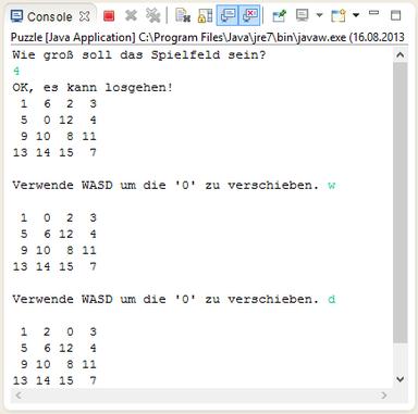 Java Schiebepuzzle Screenshot