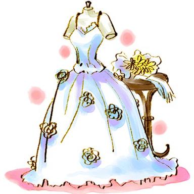 ウエディングドレスのイラスト