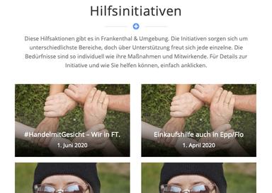 #helFT, Eine Plattform zur besseren Übersicht von vielen tollen Hilfsprojekten ..., 01.06.2020