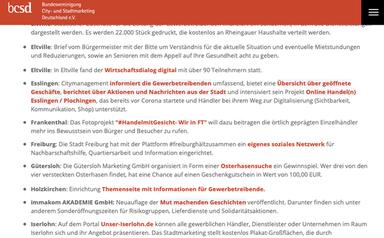 Internet Bundesvereinigung City- und Stadtmarketing Deutschland e. V., 03.06.2020
