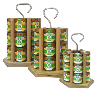 Honigträger Honeyboy Honigverkauf Honigpräsentation Verkaufsständer Honigregal Honigtransport  Honigverkauf Honiggläser