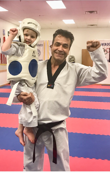 4 years old already knows his form 🙏🥋