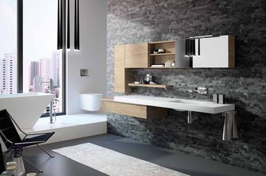 cuisine intérieur design  toulouse salle de bain moderne tendnnce  vasque sur deux niveaux