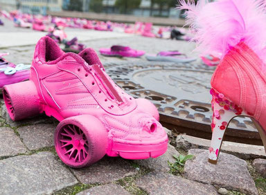 Pink Shoe Day in Leipzig