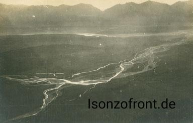 Blick auf das Piavetal im Februar 1918. Sammlung Isonzofront.de