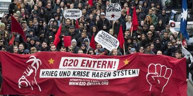Modstanden mod G20 topmødet i Hamburg, juli 2017
