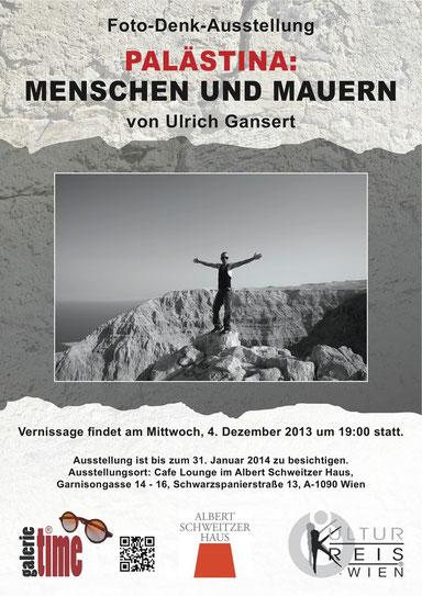 Galerie Time Günther Wachtl Albert Schweitzer Haus Ulrich Gansert Muna Duzdar Palästina Reise Foto Denk Ausstellung
