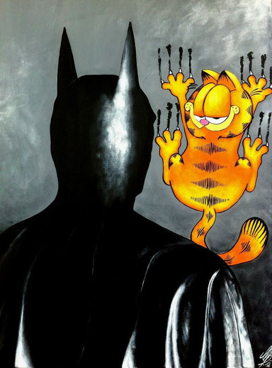 """""""I want to be your catwoman"""", 2012, acrylic on canvas, 60x80"""