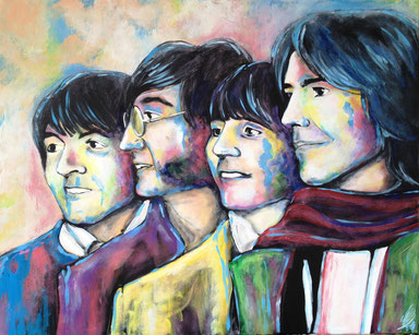 """Beatle your life"", 2013, acrylic on canvas, 80x100"