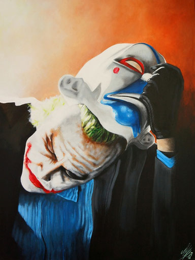 """no joke"", 2012, acrylic on canvas, 60x80"