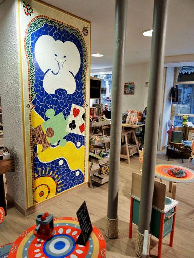 Fresque murale pour magasin de jouets La Cachette d'Arthur - Zam-création