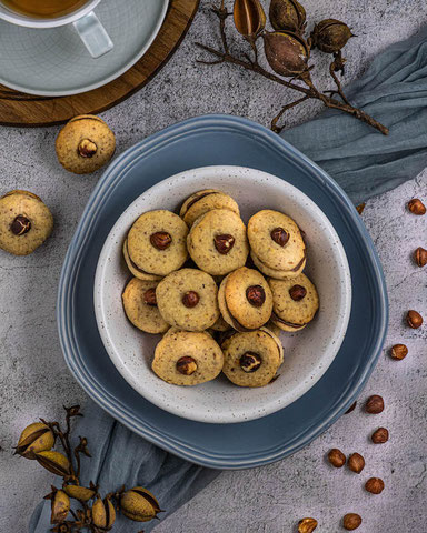 Recipe - Tip for Christmas: Hazelnut cookies with Nutella