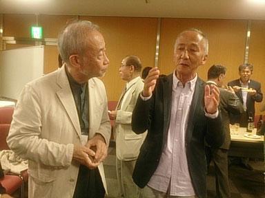 日本医療催眠学会会長の萩原優先生と、特別講演の話者天外伺朗さん
