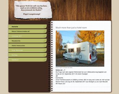 Start des Fahrtenschreibers im Januar 2012. Das erste Layout