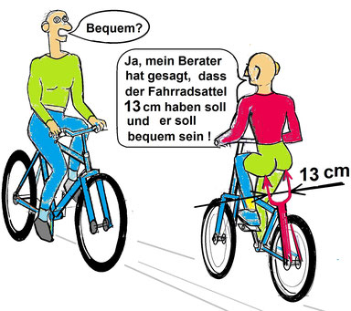 Bequeme Fahrradsattel
