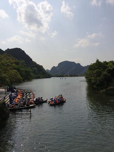 Start der Tang An Bootsfahrt