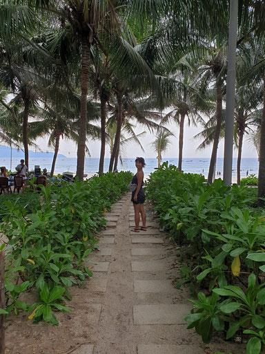 Auf dem Weg zum Strand von Da Nang