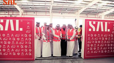 Saudi Arabian Logistics Co. (SAL) ribbon-cutting at Dammam airport. Image courtesy of BrandCode