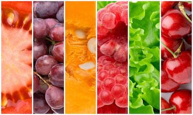 Cromoterapia. Dieta dei colori: menu arcobaleno