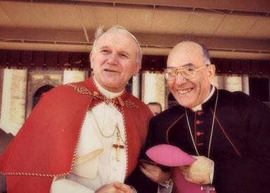 Giovanni Paolo II e Guglielmo Giaquinta