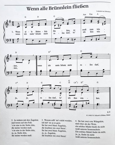 """© Traudi – Quelle: Volkslieder-Buch """"Es tönen die Lieder"""" – Kurt Pahlen"""