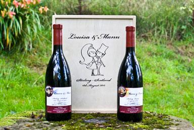 diseño de botellas de vino personalizadas