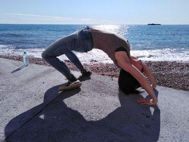 Yoga-Brücke in Monaco