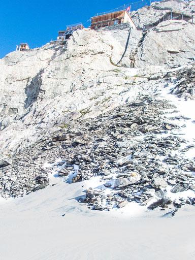 Die Oberaarjochhütte - ein wirklich beeindruckender Platz für eine Hütte