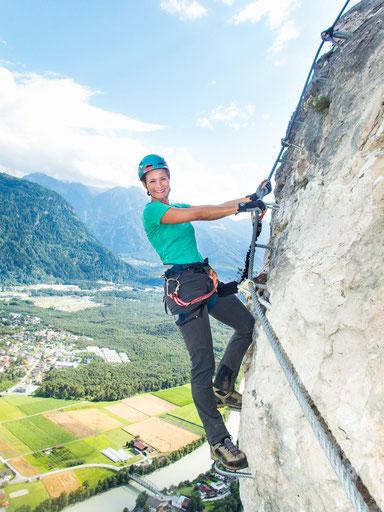 Der Geierwand-Klettersteig ist super versichert und ich fühlte mich zu jeder Zeit wohl