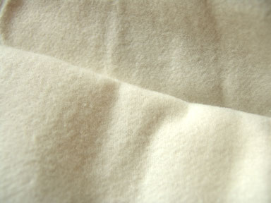 Baumwoll-Molton, naturfarben