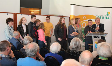 Het Groenhorst College filmclubteam         (foto HvdB)