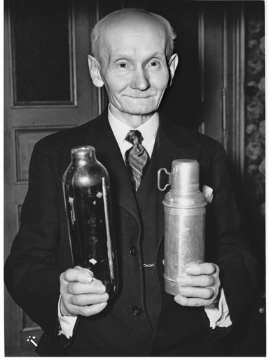 Reinhold Burger, Erfinder der Thermosflasche