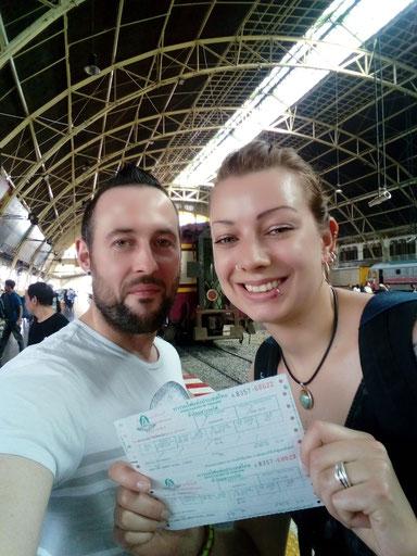 Thailand, Südostasien,Zwei auf Achse, Bangkok, Hua Lam Phong, Hauptbahnhof Bangkok, Hua Hin, Backpacker, Rucksackreise