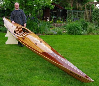 HoWeCa Holzleistenkajak, Leistenkanu, Holzboot