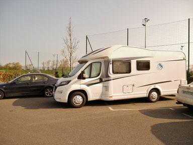 Unser Übernachtungsparkplatz in Dunkerque (Dünkirchen)