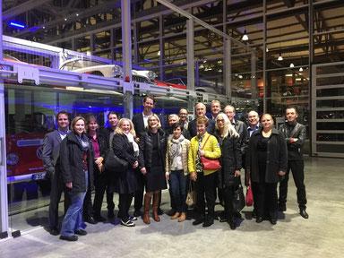 Besuch der Firma Wirtschaftsimpuls in der Motorworld Böblingen bei Stuttgart