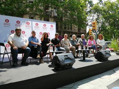 D'esquerra a dreta: Bennasar, Cirici, El Hachmi, Gironell, Hernàndez, Pradas, Serra, Soler i Valls