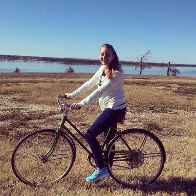 Fahrrad fahren an Thanksgiving in Texas