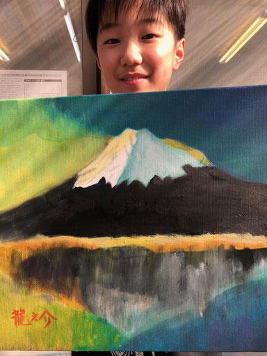 6年生の希望者は油絵に挑戦!