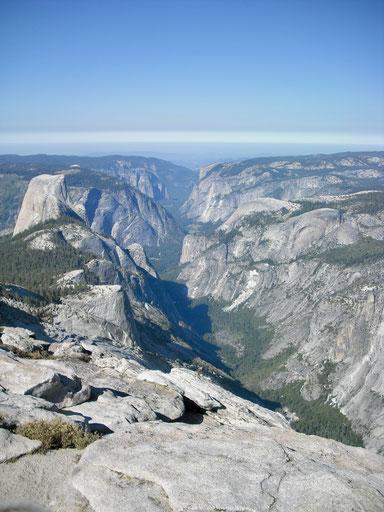 Blick von Clouds Rest ins Yosemite Valley