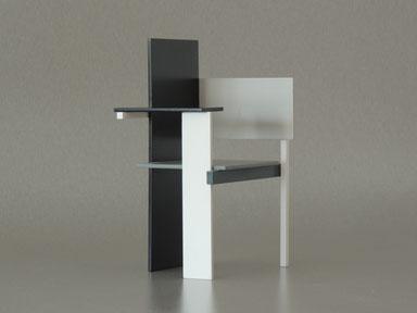 Berlinerstuhl, Berlin chair, Miniaturstuhl selbs gebaut, mit Zapfenverbindungen und Dübel