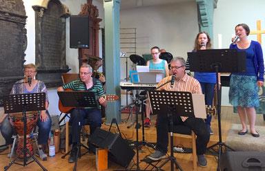 Die Andreas-Band im Juli 2016 // Foto: Goemmer